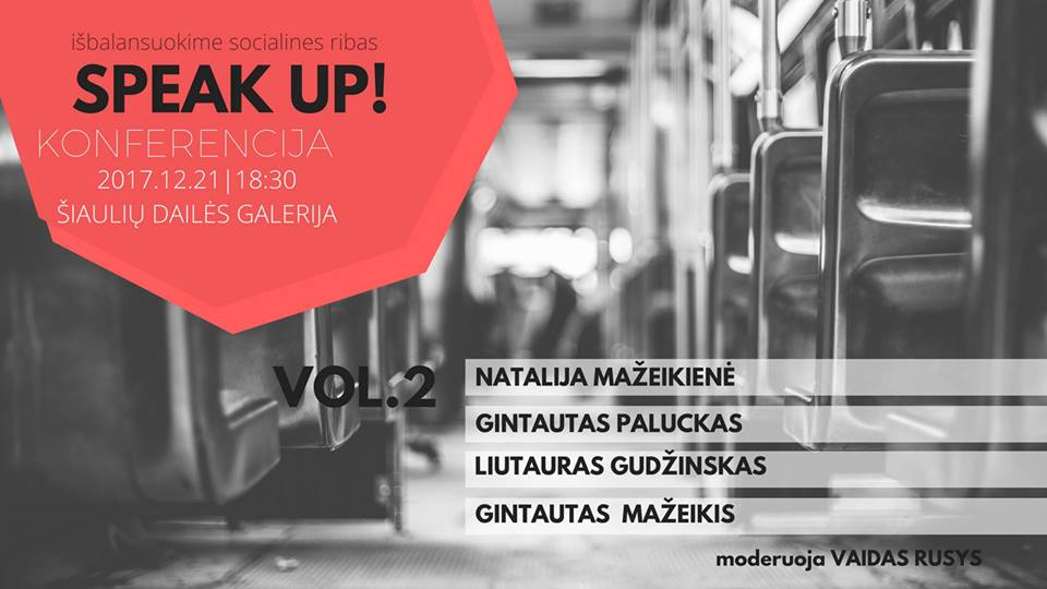 VOL.2 SPEAK UP! išbalansuoti socialines ribas